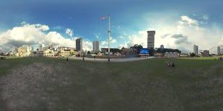 una foto di 360 vr di Dataran Merdeka, Kuala Lumpur immagini stock