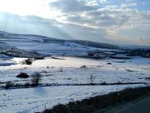 Una foto en invierno fotos de archivo