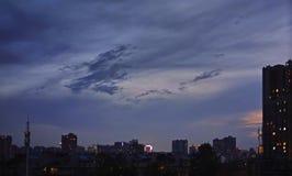 Una foto en la puesta del sol en China imagenes de archivo