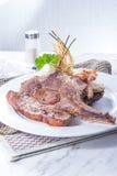 Una foto sabrosa de la cocina del filete de carne de vaca Foto de archivo
