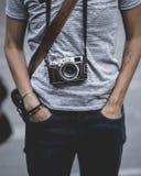 Una fotografía con su cámara foto de archivo