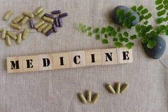 Concepto de las medicinas herbarias Fotografía de archivo