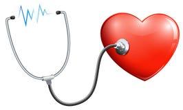 Una frequenza cardiaca illustrazione vettoriale