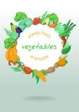 Una frontera del vector de verduras deliciosas Foto de archivo libre de regalías