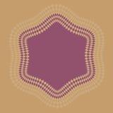 Una frontera hexagonal Imagen de archivo libre de regalías
