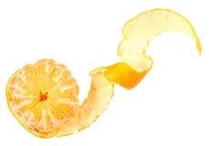 Una fruta pelada de mandarina anaranjada Imagen de archivo libre de regalías