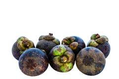 Una frutta di sette mangostani. Fotografia Stock Libera da Diritti