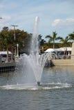Una fuente de agua en fuerte Myers, la Florida Foto de archivo