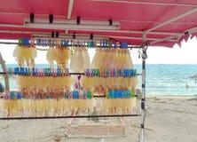 Una fuente y un producto del mar Imagen de archivo libre de regalías