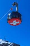 Una góndola del teleférico de Rotair en el Mt Titlis Imagen de archivo