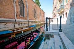 Una góndola en Venecia Foto de archivo libre de regalías