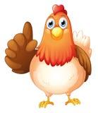 Una gallina Immagini Stock Libere da Diritti