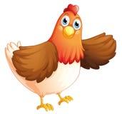 Una gallina grassa Fotografie Stock