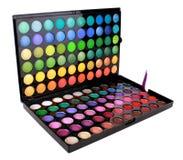 Una gama de colores coloreada multi del maquillaje Fotografía de archivo