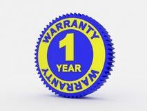 una garanzia da 1 anno illustrazione vettoriale