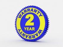 una garanzia da 2 anni illustrazione vettoriale