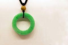 Una giada di verde smeraldo Immagine Stock