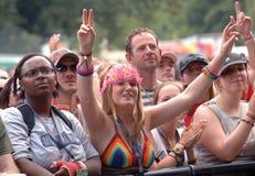 Pulcino del hippy di festival Immagine Stock Libera da Diritti