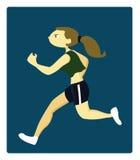 Un giovane funzionamento atletico della donna Immagine Stock