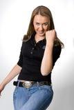 Una giovane donna attraente Fotografie Stock Libere da Diritti