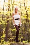 Una giovane donna caucasica Immagine Stock