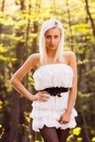 Una giovane donna caucasica Fotografie Stock Libere da Diritti