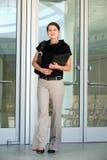 Una giovane donna di affari Fotografie Stock Libere da Diritti
