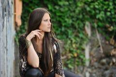 Una giovane donna moderna Fotografia Stock