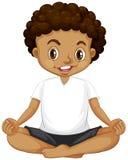 Una giovane meditazione del ragazzo illustrazione di stock