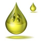 Una goccia del vettore fine dell'olio d'oliva Immagini Stock Libere da Diritti