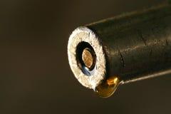 Una goccia della macro preziosa dell'olio fotografia stock libera da diritti