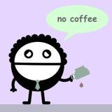 Una goccia di caffè Fotografia Stock