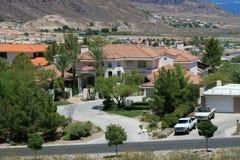 Una grande casa dell'alta società nel deserto dell'Arizona Fotografia Stock