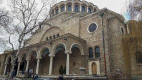 Una grande chiesa a Sofia immagine stock