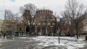 Una grande chiesa a Sofia fotografie stock