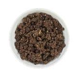 Granola della mandorla del cioccolato in ciotola Fotografie Stock