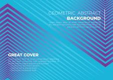 Una grande copertura di lusso astratta geometrica blu del fondo royalty illustrazione gratis