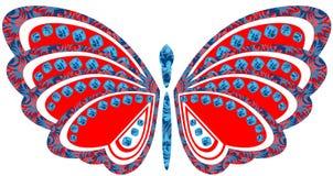 Una grande farfalla luminosa Immagini Stock