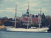 Una grande nave a Stoccolma Fotografia Stock