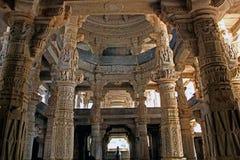 Una grande vista del tempio Jain, Ranakpur Fotografia Stock Libera da Diritti
