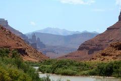 Una grande vista della valle Fotografia Stock