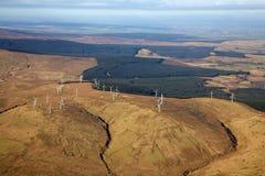 Una granja de viento Imágenes de archivo libres de regalías