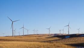 Una granja del molino de viento en un paisaje rual Fotografía de archivo libre de regalías