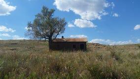 Una granja en la gama abierta fotografía de archivo