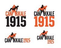 Una guerra mundial Gallipoli - Canakkale Turquía 1915 Fotos de archivo libres de regalías