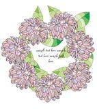 Una guirnalda de flores Imagen de archivo libre de regalías