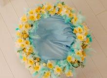 Una guirnalda de la flor de narcisos Imagen de archivo