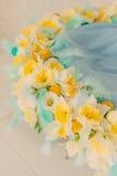 Una guirnalda de la flor de narcisos Fotografía de archivo
