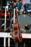 Guitarra de la secuencia de la obra clásica seis en concierto Imagen de archivo libre de regalías