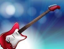 Una guitarra eléctrica roja Fotografía de archivo